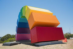 Abstrakcjonistyczny tęczy morza zbiornik Zdjęcia Stock