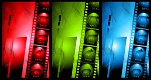 abstrakcjonistyczny tła filmu set Zdjęcia Royalty Free