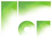 abstrakcjonistyczny tła grafiki zieleni set Obraz Stock