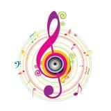 abstrakcjonistyczny tła klucza skrzypce Zdjęcie Royalty Free