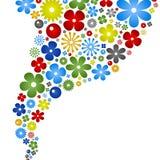 abstrakcjonistyczny tła koloru kwiat Obrazy Stock