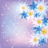 abstrakcjonistyczny tła kwiatów wektor Zdjęcie Stock