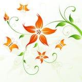 abstrakcjonistyczny tła motyliego kwiatu wektor Zdjęcia Royalty Free