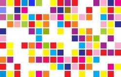 abstrakcjonistyczny tła mozaiki piksel wskazuje round Obrazy Stock