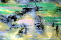 Abstrakcjonistyczny tło, akwarela i burnt papier, Fotografia Stock