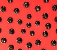 Abstrakcjonistyczny tło czarni koraliki Zdjęcia Royalty Free