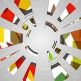 Abstrakcjonistyczny tło dla futurystycznego technika projekta Obraz Royalty Free