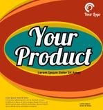 Abstrakcjonistyczny tło dla produkt pokrywy Obrazy Stock