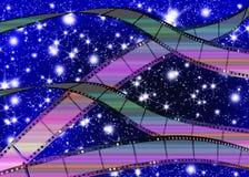 Abstrakcjonistyczny tło film. ilustracja wektor