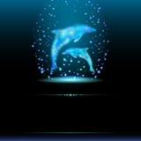 Abstrakcjonistyczny tło, ilustraci eps 10. Fantastyczni delfiny. Zdjęcia Stock