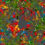Abstrakcjonistyczny tło kleksy, krople, wzory akwarela ilustracji