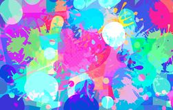 Abstrakcjonistyczny t?o kolor plamy farby ilustracji