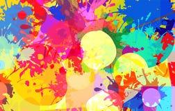 Abstrakcjonistyczny t?o kolor plamy farby ilustracja wektor