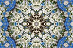 abstrakcjonistyczny tło kwiecisty wzór kalejdoskop Obraz Royalty Free