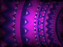 Abstrakcjonistyczny tło mandala styl - purpury i menchie z czarnym grunge - royalty ilustracja