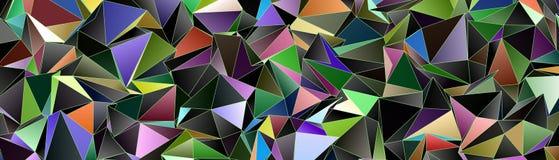 Abstrakcjonistyczny tło, mozaika triangulated Fotografia Stock