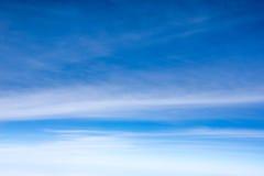 Abstrakcjonistyczny tło niebieskie niebo z chmurami Fotografia Royalty Free