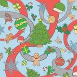 Abstrakcjonistyczny tło, nowego roku set Ilustracji
