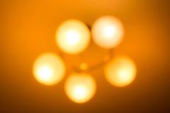 Abstrakcjonistyczny tło rozmyta podsufitowa lampa Fotografia Stock