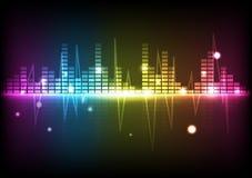 Abstrakcjonistyczny tło technologii cyfrowej dyskoteki widma muzyki equa ilustracja wektor