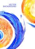 Abstrakcjonistyczny tło z akcentuacyjnymi kolorami Zdjęcia Royalty Free