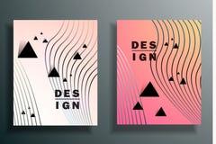 Abstrakcjonistyczny tło z barwionymi elementami, ablegruje 3d Set ilustracji