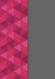 Abstrakcjonistyczny tło z 3D skutkiem czerwoni trójboki - ilustracja Fotografia Royalty Free