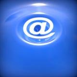 Abstrakcjonistyczny tło z e-mailowym symbolem. Obrazy Stock