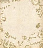 Abstrakcjonistyczny tło z hieroglifami Zdjęcia Royalty Free