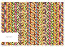 Abstrakcjonistyczny tło z jaskrawymi kwadratami Zdjęcie Stock