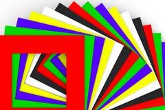 Abstrakcjonistyczny tło z kwadratowym kolorem Zdjęcia Stock