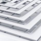 Abstrakcjonistyczny tło z kwadratowymi warstwami Fotografia Royalty Free