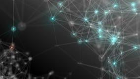 Abstrakcjonistyczny t?o z liczbami i sieci? zdjęcie wideo
