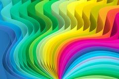 Abstrakcjonistyczny tło z linii fala kolorem Obraz Stock