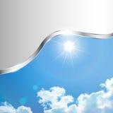Abstrakcjonistyczny tło z niebem Zdjęcie Stock