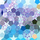 Abstrakcjonistyczny tło z pentagonem Fotografia Royalty Free