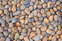 Abstrakcjonistyczny tło z suchymi round reeble kamieniami Zdjęcie Stock
