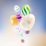 Abstrakcjonistyczny tło z szklanymi jajkami Obrazy Stock