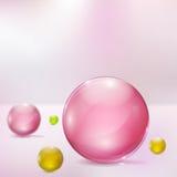 Abstrakcjonistyczny tło z szklanymi sferami Obraz Royalty Free