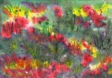 Abstrakcjonistyczny tło z trawa motywami Obrazy Royalty Free