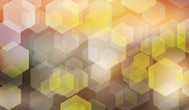 Abstrakcjonistyczny tło z zamazanym heksagonalnym bokeh Zdjęcie Royalty Free