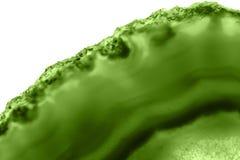 Abstrakcjonistyczny tło - zielonego agata plasterka PANTONE kopalny makro- greenery Zdjęcia Royalty Free