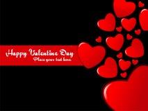 abstrakcjonistyczny tła serca valentine Obraz Stock