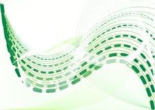 abstrakcjonistyczny tła zieleni wektor ilustracja wektor
