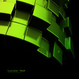 abstrakcjonistyczny tła sześcianów zieleni metal Obraz Stock