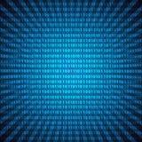 Abstrakcjonistyczny tajemniczy binarnego kodu cyfr niebieskich linii tło eps10 Zdjęcie Royalty Free