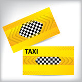 Abstrakcjonistyczny taxi wizytówki projekt Obrazy Royalty Free
