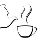 abstrakcjonistyczny teapot Obraz Stock