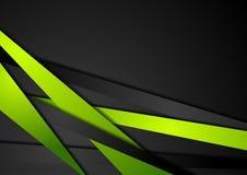 Abstrakcjonistyczny techniki zieleni czerni lampasów projekt Obraz Stock
