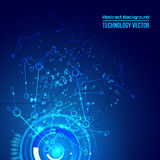 Abstrakcjonistyczny techno tło dla futurystycznego zaawansowany technicznie projekta - wektor ilustracji